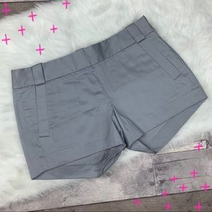 J. Crew Factory Gray Carson side zip shorts size 2